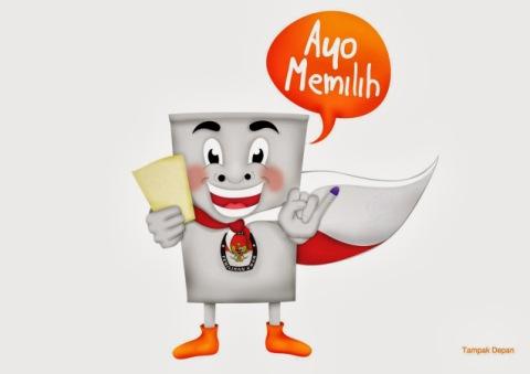 si-kora-maskot-pemilu-2014